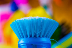 Cleaning objects on saturated background Royalty Free Stock Photo