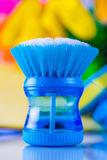 Cleaning objects on saturated background Royalty Free Stock Photography