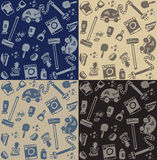 Cleaning objects seamless pattern Royalty Free Stock Photography