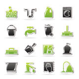 Cleaning- och hygiensymboler Royaltyfri Bild