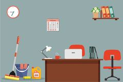 Cleaning at office concept Royalty Free Stock Images