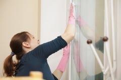 cleaning okno Zdjęcia Stock