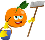 Cleaning orange Stock Image