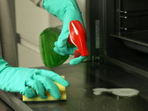 Cleaning oven Stock Photography
