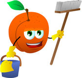 Cleaning peach Royalty Free Stock Images