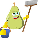 Cleaning pear Royalty Free Stock Photography