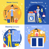Cleaning People Concept Royalty Free Stock Photos