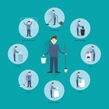 Cleaning people concept Stock Photo