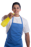 Cleaning person service cleaner housework man job occupation you Stock Photography
