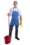 Cleaning person service cleaner man job occupation young full bo Stock Photos