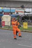 Cleaning personelu parady Peruwiańscy święta narodowe fotografia stock