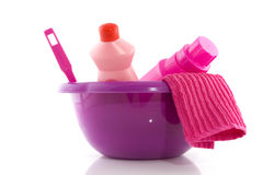 Cleaning in pink Stock Images