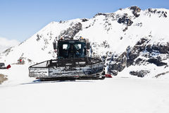 Cleaning the piste, Molltaler Glacier, Austria Stock Photography