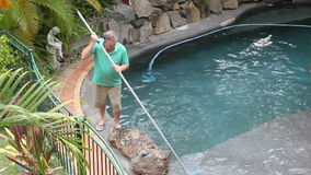 Cleaning Pool Corner Stock Photography