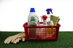 Cleaning Product with clipping path Stock Images