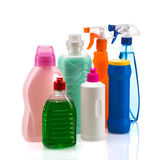 Cleaning product plastic container for house clean Stock Photos