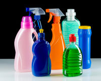 Cleaning product plastic container for house clean Stock Photography
