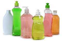 Cleaning products. Isolated over white Royalty Free Stock Photo