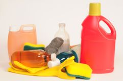 Cleaning products. Royalty Free Stock Photos