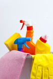 Cleaning products Stock Image