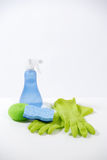 Cleaning Products. Some household cleaning products in the studio Royalty Free Stock Images