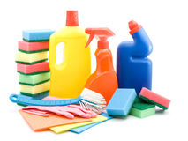 Cleaning products Royalty Free Stock Photos