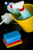 Cleaning products. Many cleaning products still life Stock Images