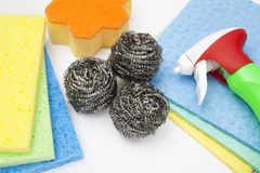 Cleaning Products close up Royalty Free Stock Image