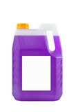 Cleaning products. Detergent plastic bottle isolated Royalty Free Stock Photos