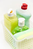 Cleaning products and detergents. Stock Image