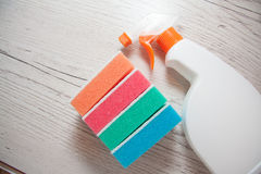 Cleaning products for home Stock Photos
