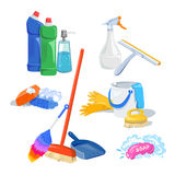 Cleaning products isolated Royalty Free Stock Photography