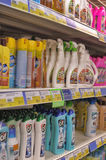 Cleaning products for sale Stock Image