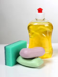 Cleaning products and soap Royalty Free Stock Images