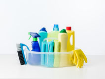 Cleaning products and supplies Stock Photos