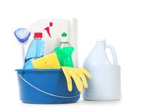 Cleaning Products for Daily Use in the Home Royalty Free Stock Photography