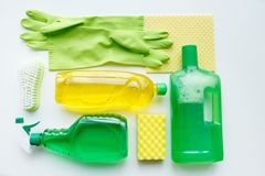 Cleaning products Stock Photo