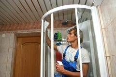 cleaning profesjonalista Zdjęcia Royalty Free