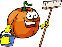 Cleaning Pumpkin Royalty Free Stock Images