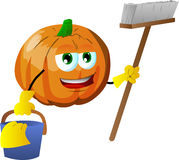 Cleaning pumpkin Royalty Free Stock Photos