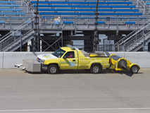 Cleaning the Racetrack Stock Image