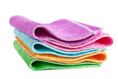 Cleaning rags. Closeup view of pile of colorful cleaning rags Royalty Free Stock Photos