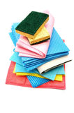 Cleaning rags and sponges Royalty Free Stock Images