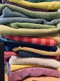 Cleaning rags in various colors. A variety of cleaning rags for household stock photo