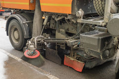 Cleaning of roads. With special equipment royalty free stock photos