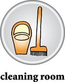 Cleaning room sign Royalty Free Stock Image