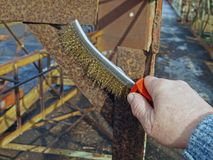 Brush rusty metal 2 Stock Photo