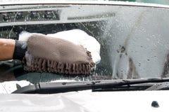 Cleaning samochód Zdjęcie Stock