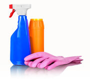 Cleaning and sanitation products studio Stock Photography