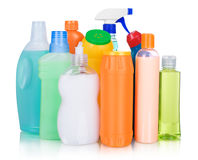 Cleaning and sanitation products studio Royalty Free Stock Image